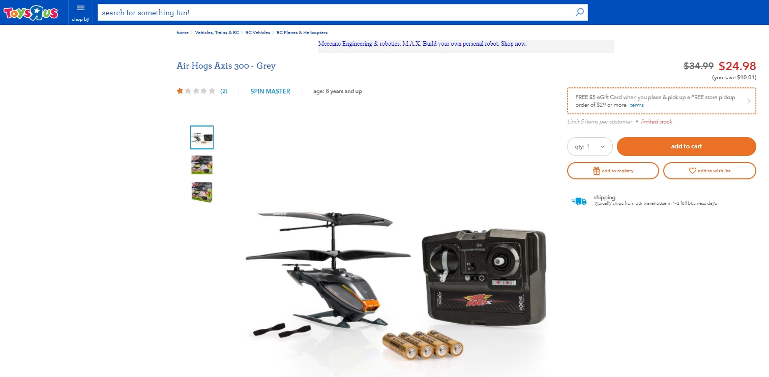 75% Off Air Hogs Coupon Code | Air Hogs 2017 Promo Codes