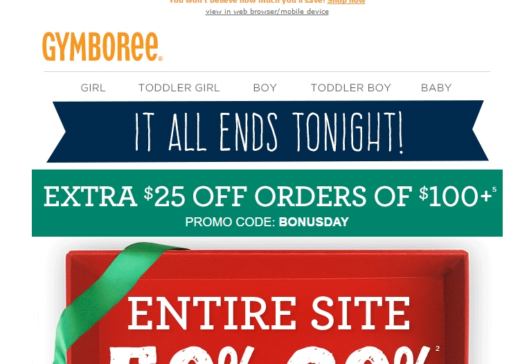 Gymboree 20 off coupon november