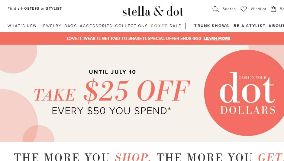 Trending Now: Get 50% Off + More At Stella & Dot With 35 Coupons, Promo Codes, & Deals from Giving Assistant. Save Money With % Top Verified Coupons & Support Good Causes Automatically.