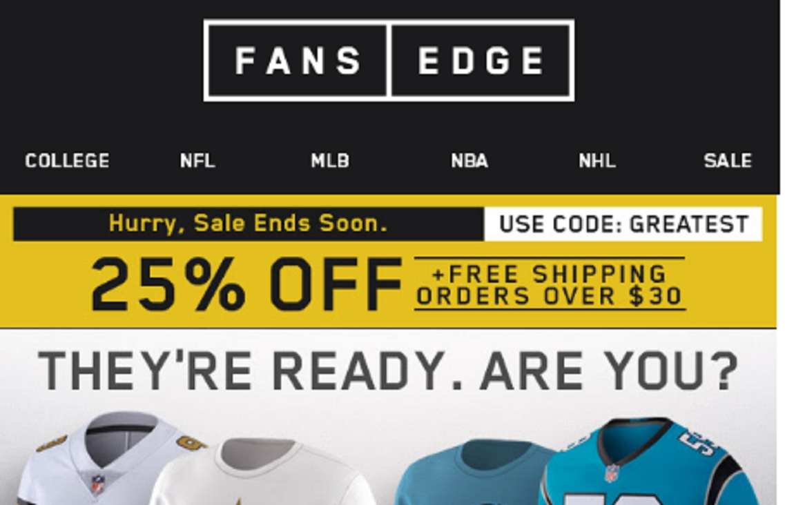 Fansedge coupon codes