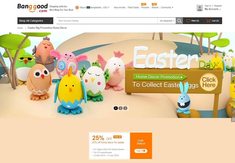 Banggood coupon code 2018