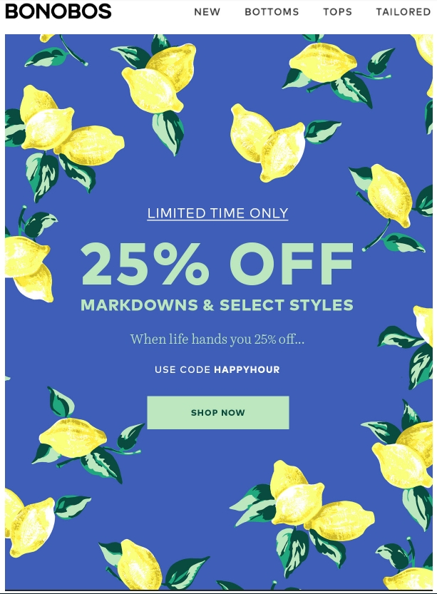 Bonobos coupon code