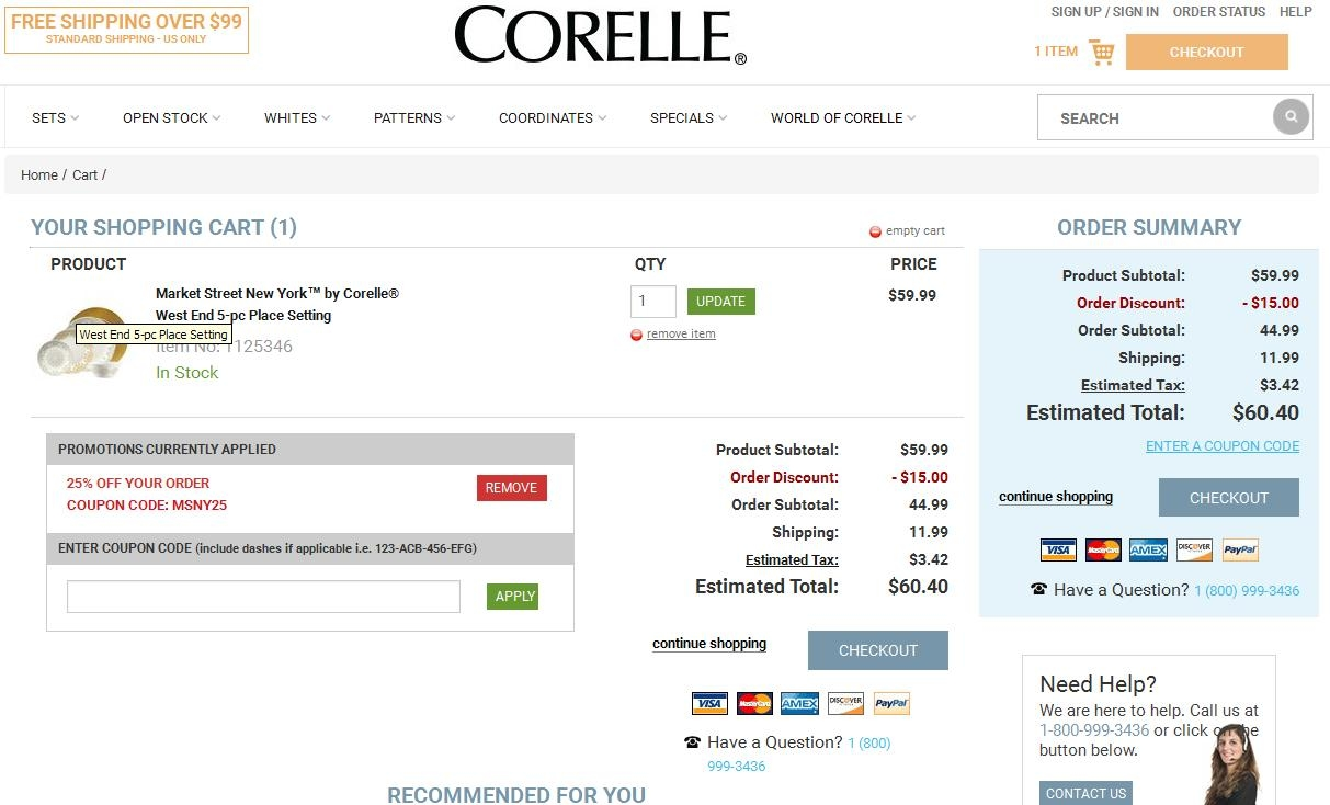 Corelle coupon code
