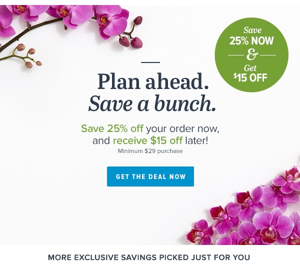 Proflowers coupon code 25 off