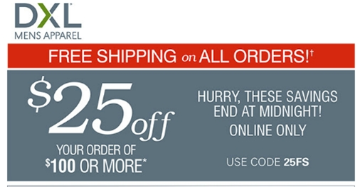 Dxl coupon code
