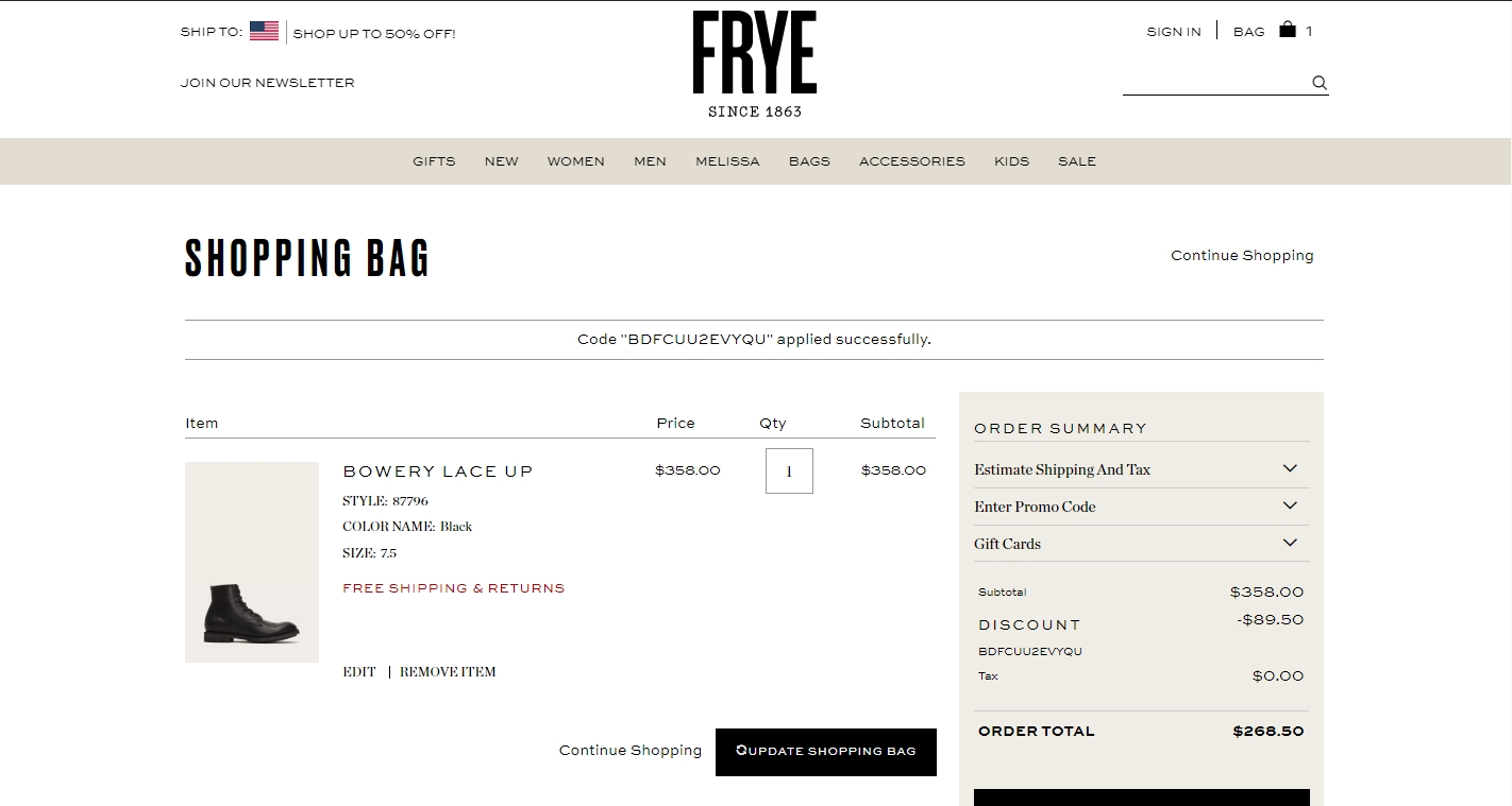 Frye coupons discount codes