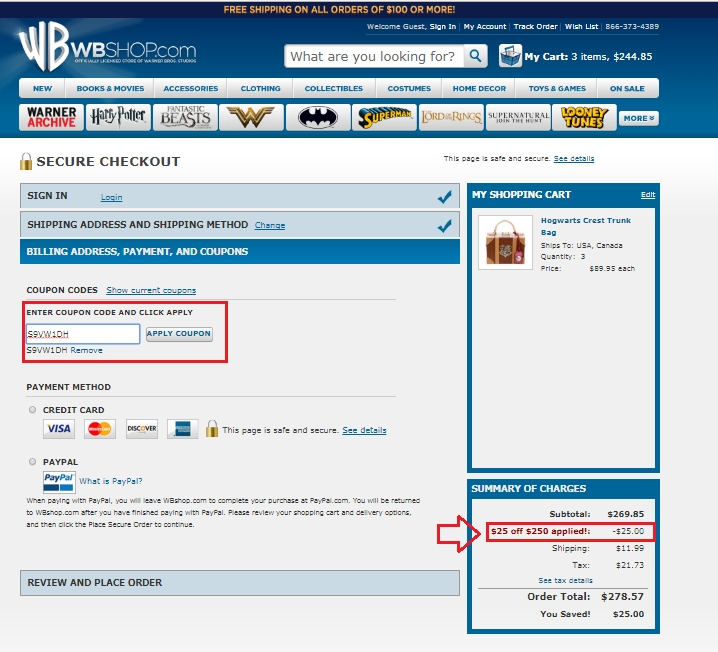 Wbshop coupon code