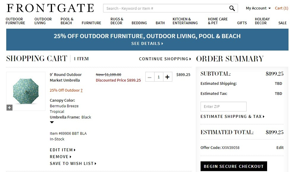 Frontgate coupon code