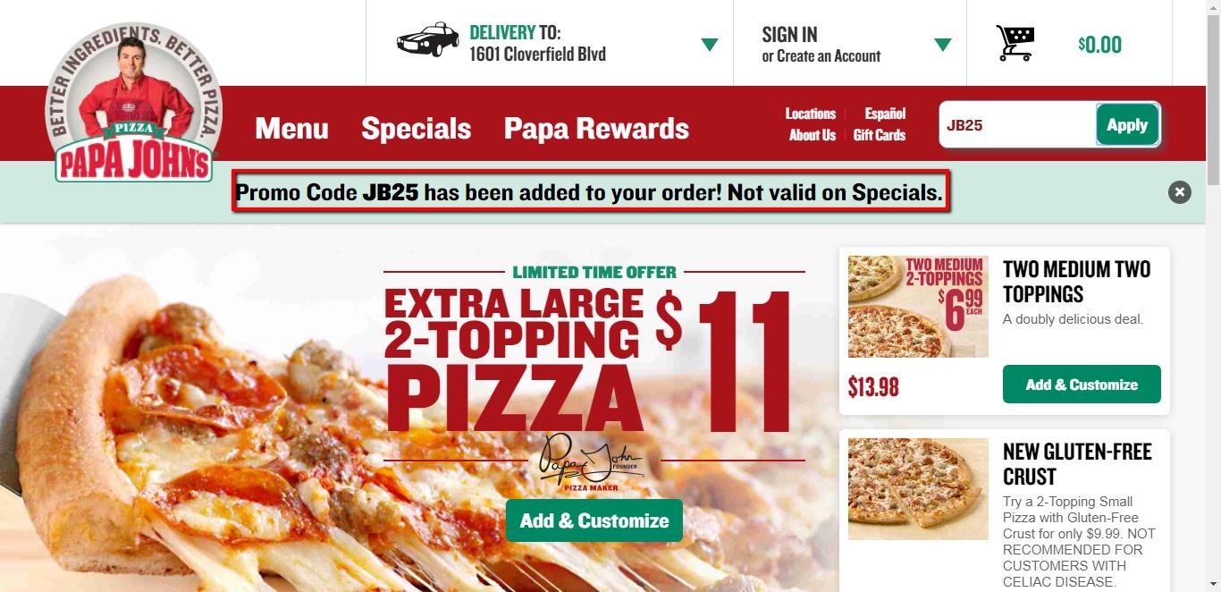 Papa johns coupons may 2019