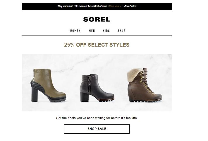 Sorel coupon code