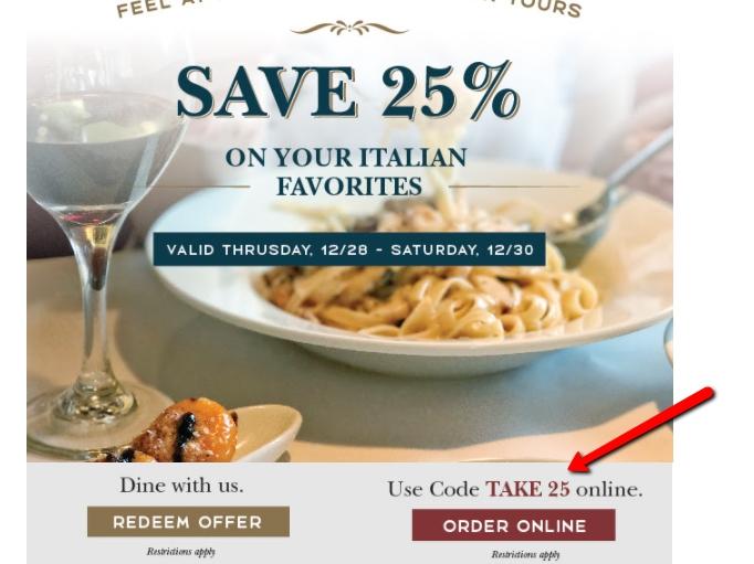 Macaroni grill coupon code 2018