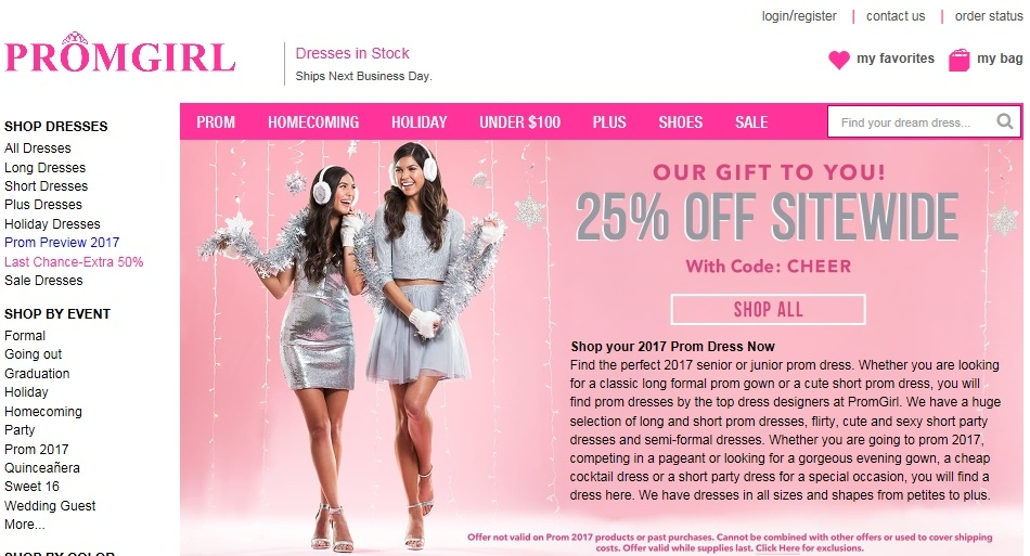PromGirl Coupons for Dresses