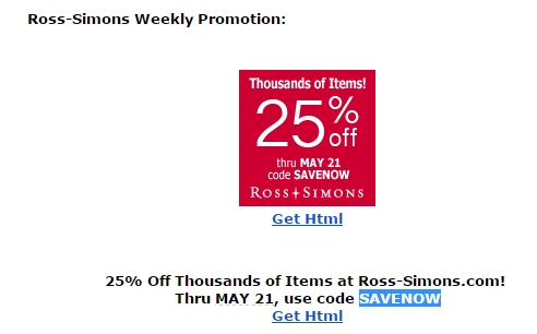 picture regarding Ross Printable Coupon identified as Discount coupons for ross simons jewellery : Kohls junior clothing coupon