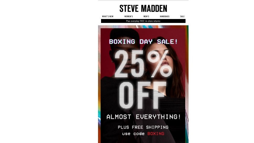 Steve Madden offers free shipping on all orders over $50 with this coupon code. What are the best Steve Madden sales? Like we said above, some of the best Steve Madden deals are found on their sale and clearance page.