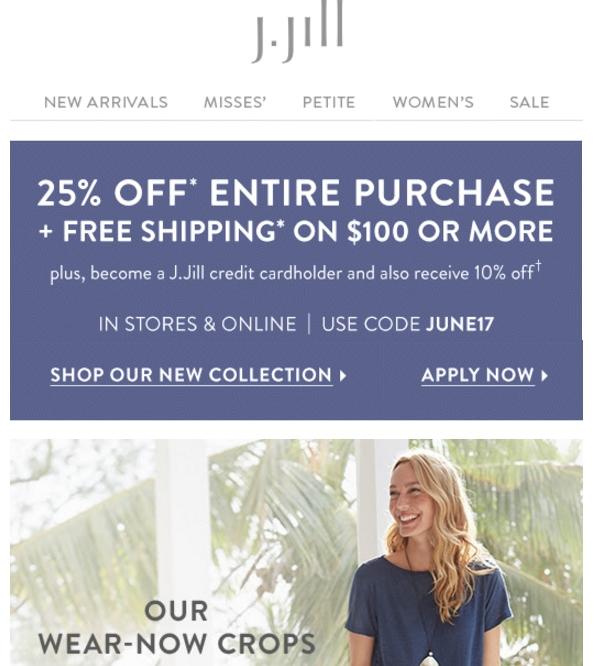 J jill coupon promo code