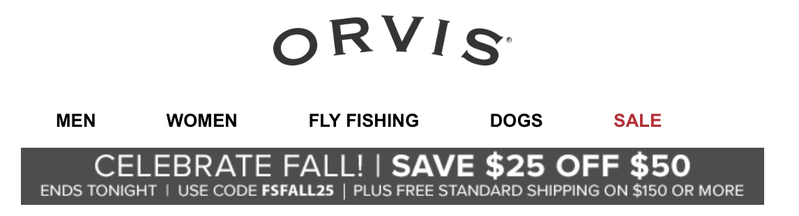Orvis is a mail-order, physical, and online retailer of fly fishing gear and other adventurous sports. It sells trendy clothing and footwear for men and women. Orvis customers like the crisp user interface and availability of sporting goods and accessories.