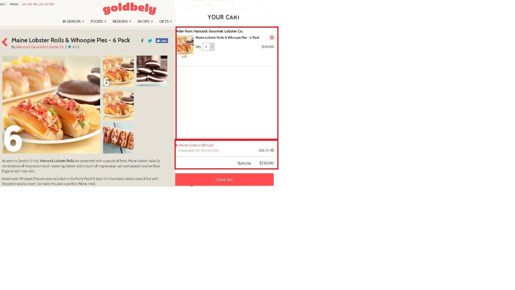 Goldbely coupon code
