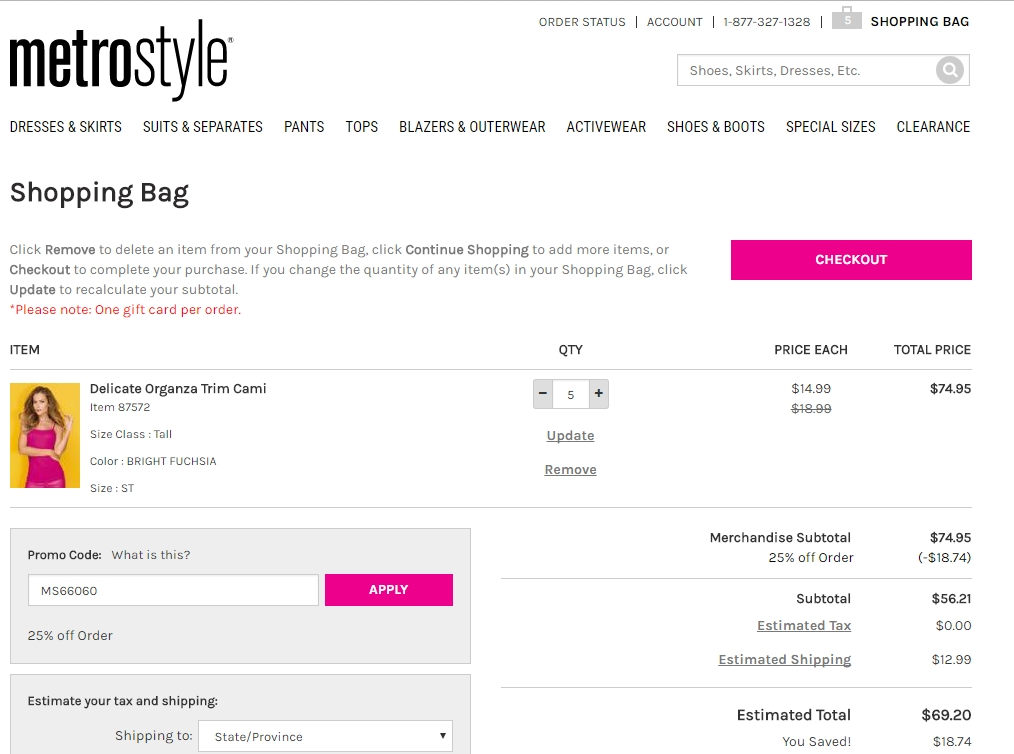 MetroStyle's online size guide lets you find the right fit from home, even if it's your first purchase. Have a question about that cute top you saw? A MetroStyle customer service representative is just a phone call away. Try on snugger prices on your next fashion apparel purchase with MetroStyle promo codes/5(25).