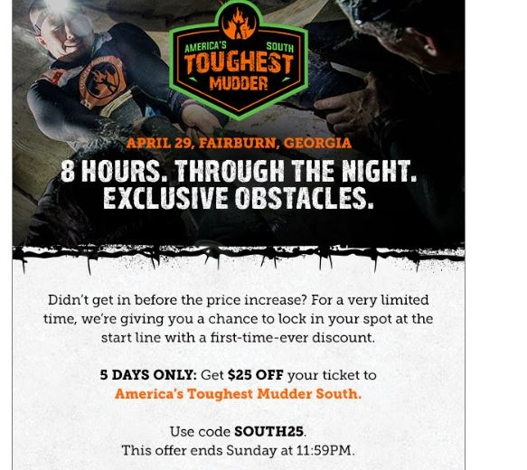 Offers Related To Tough Mudder promo codes