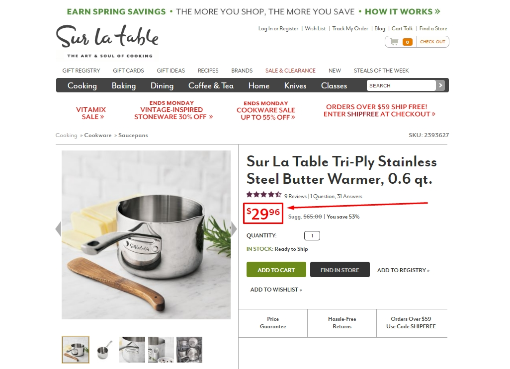 How to Use Sur La Table Coupons: Enter the Sur La Table promo code found on crawotinfu.ga in the