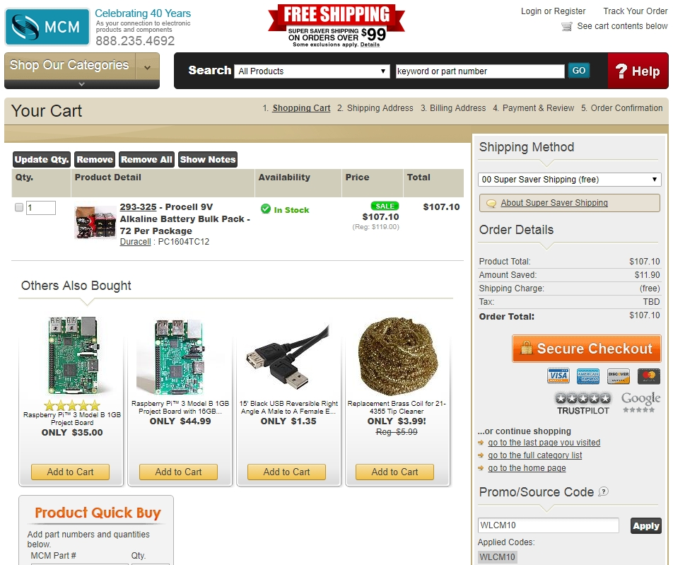 Discount electronics coupon code