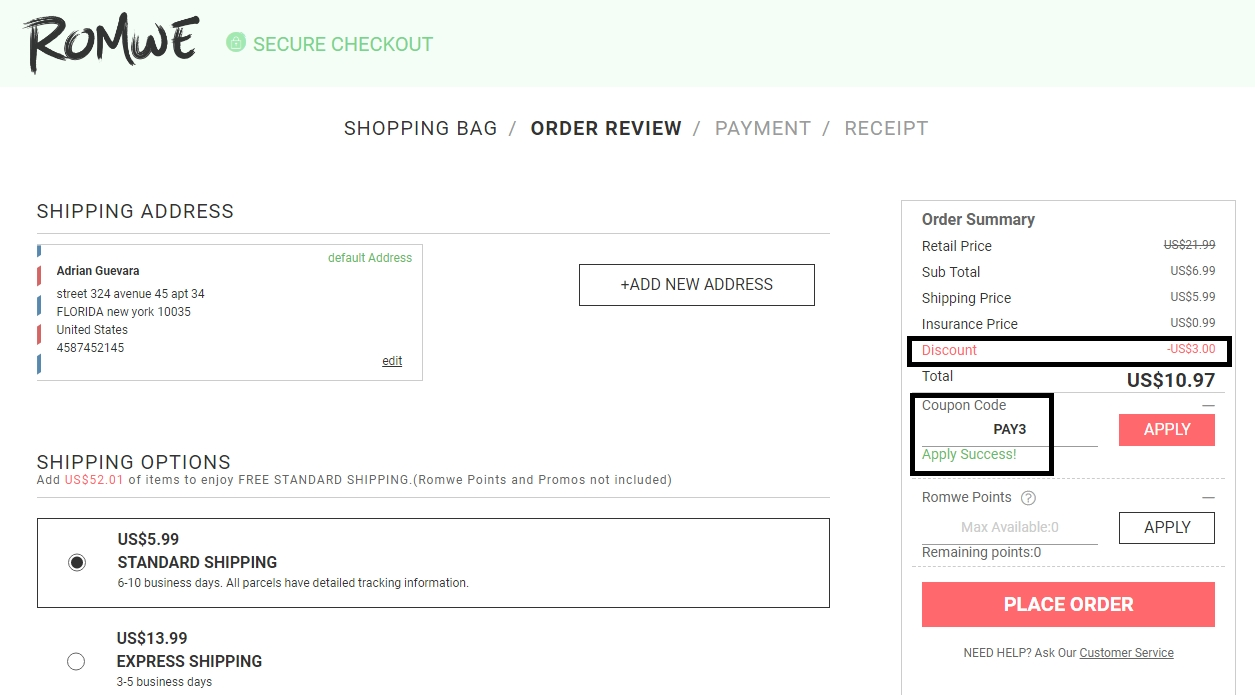 Romwe discount coupons
