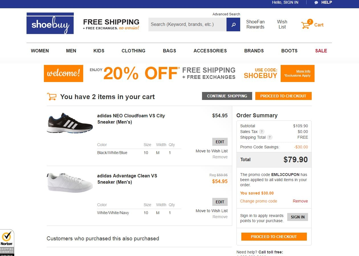 Shoebuy.com coupon code