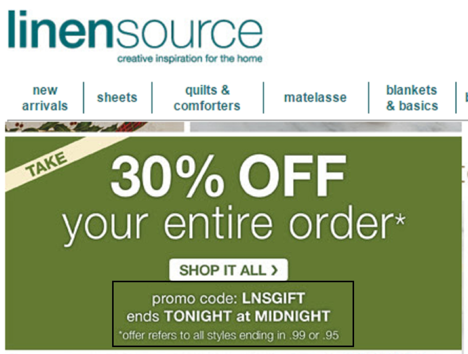 30% Off LinenSource, Inc. Coupon Code