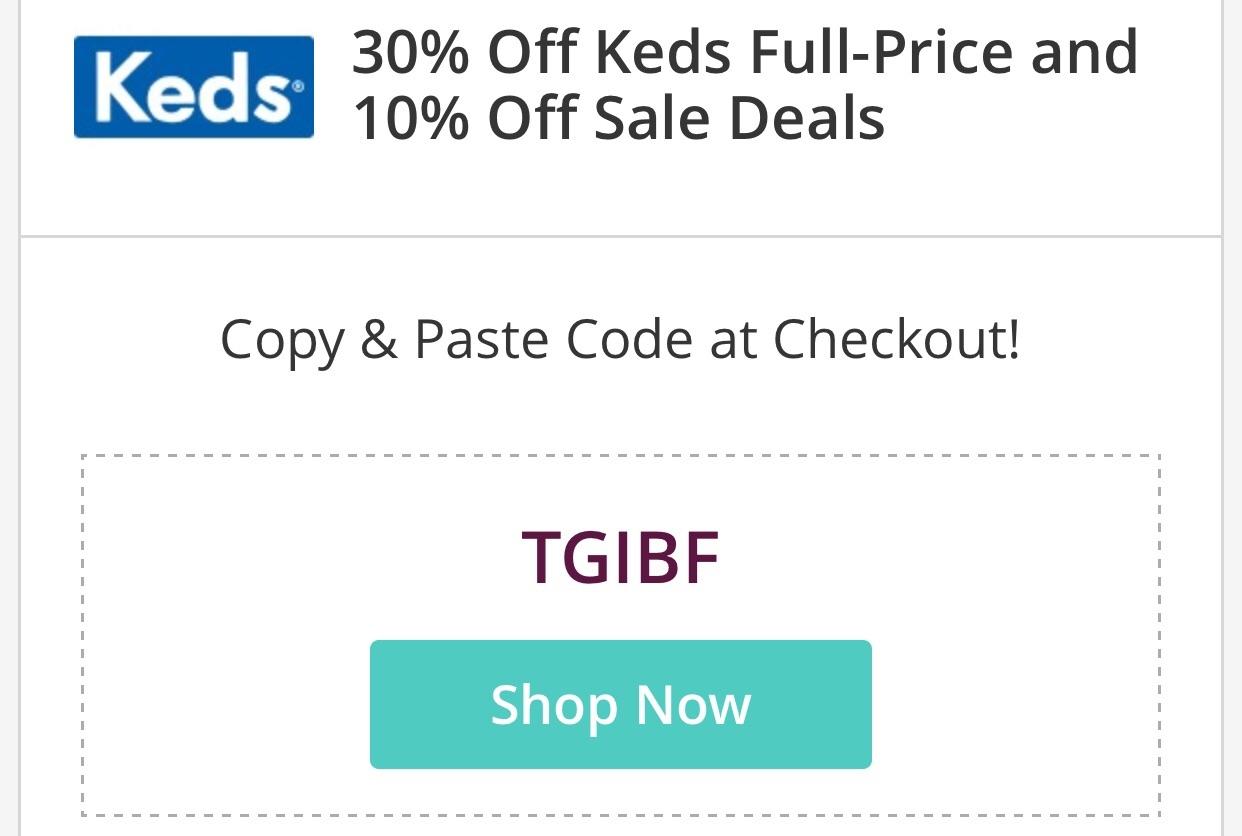 Keds coupon code
