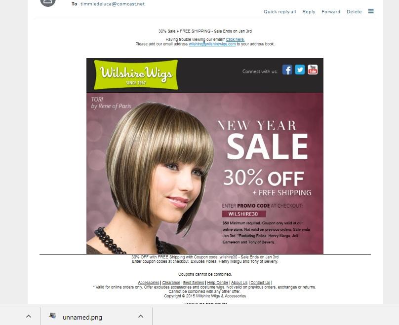 Wilshire wigs discount coupon code