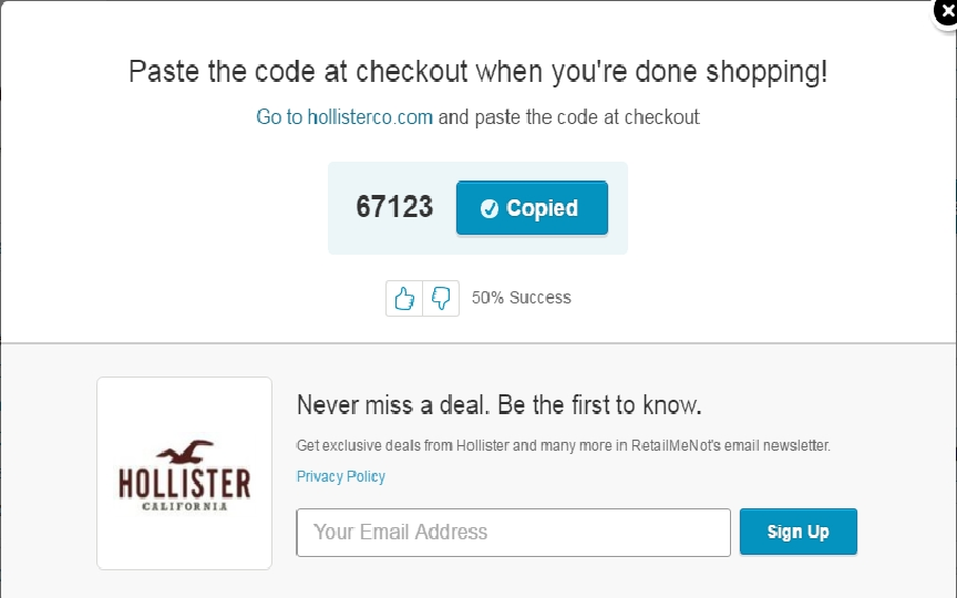 graphic regarding Hollister Printable Coupon named Hollister co 20 off coupon / Mission tortillas coupon 2018