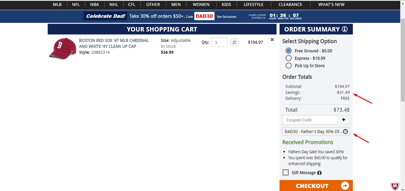 Lids.com coupon code