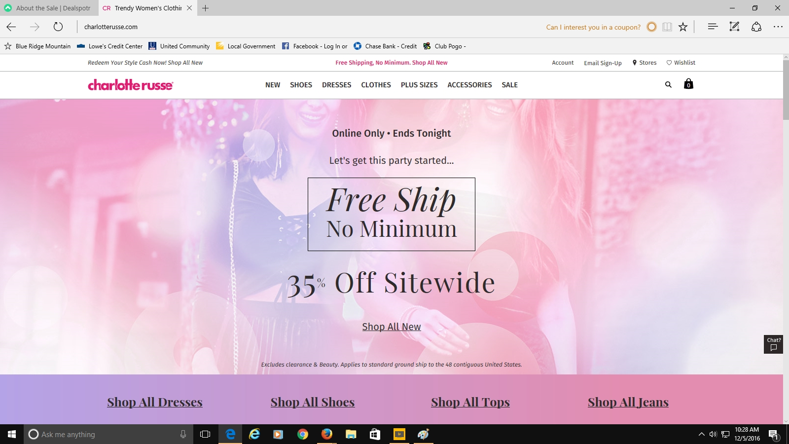 10 off coupon code charlotte russe