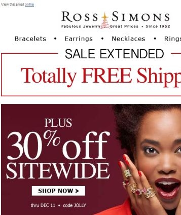Ross simons coupons free shipping code