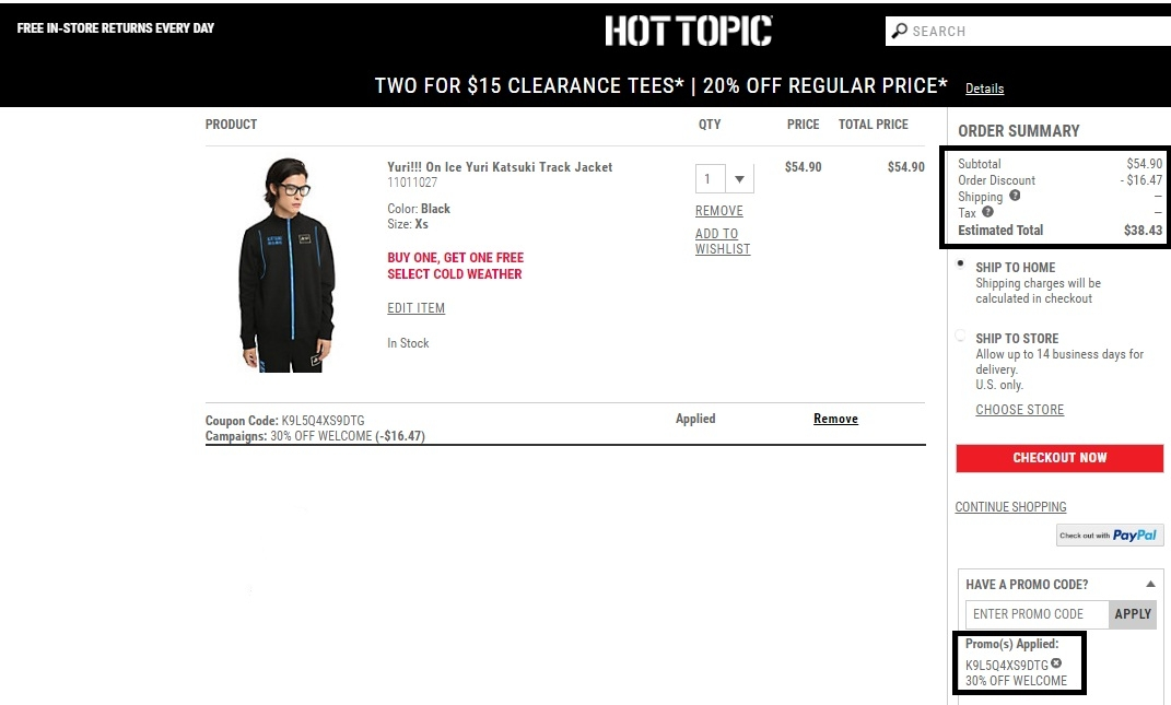 picture relating to Hot Topic Printable Coupons identify Sizzling subject 30 off promo code : Simplest order return plan opened
