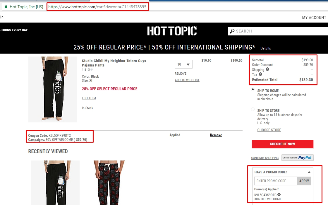 hot topic codes