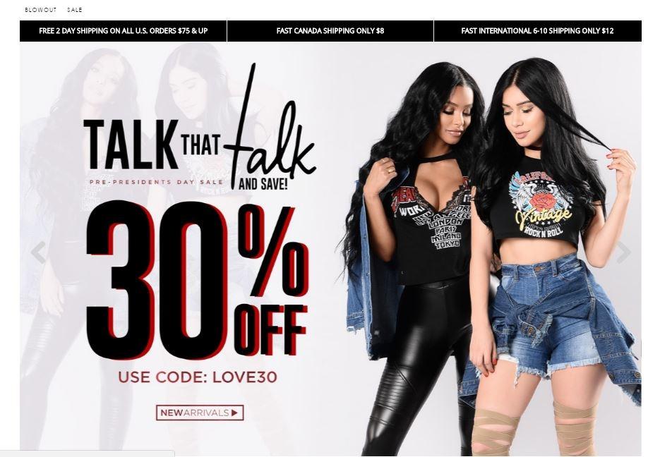 Fashion nova coupons 25