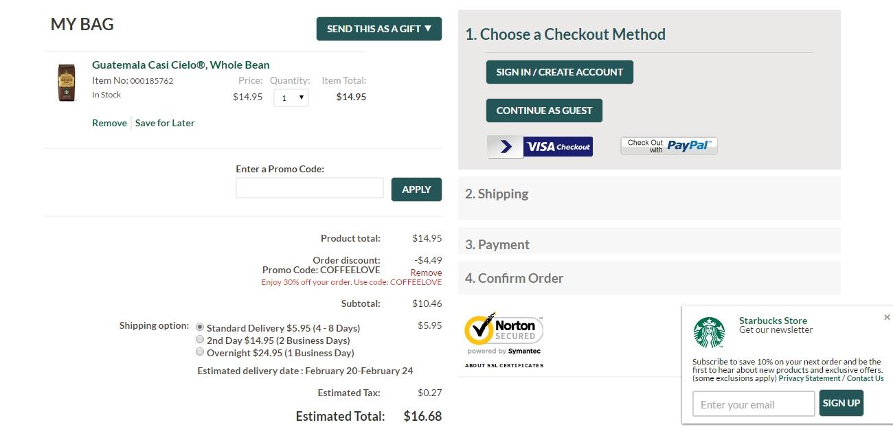 Order Online: Order Online Starbucks