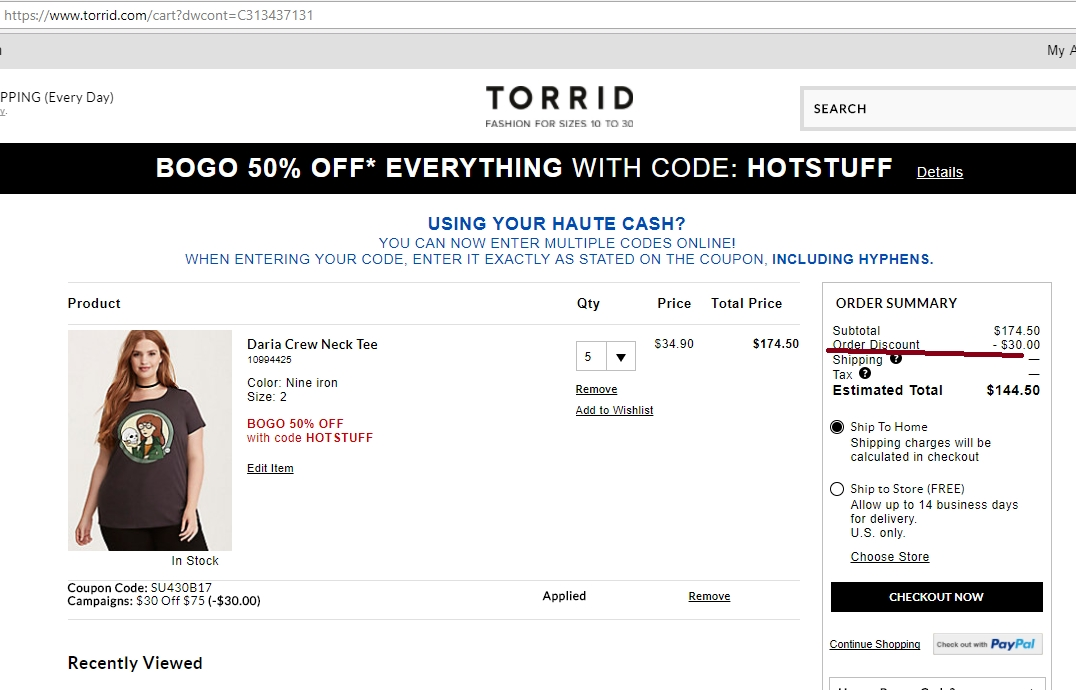 Torrid coupon code 30 off 75