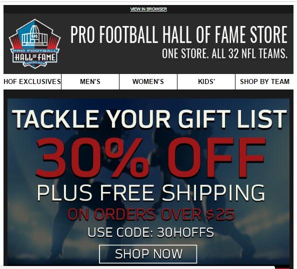 Football hall of fame coupons