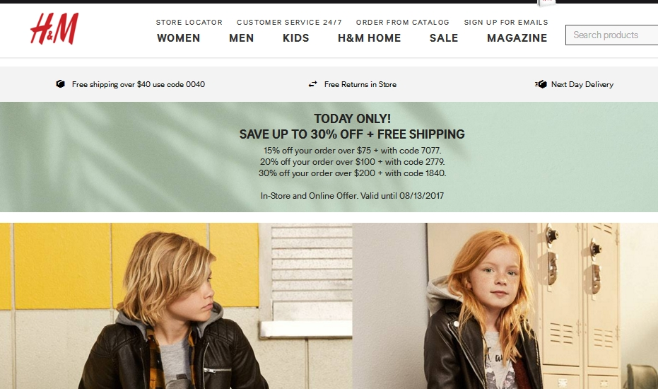 H&M offers its own email newsletter for shoppers that gives them free promo codes and advance notice of upcoming online sales. How to Redeem a Coupon Code at H&M. H&M requires that you have an account with the website before using any type of promo code.