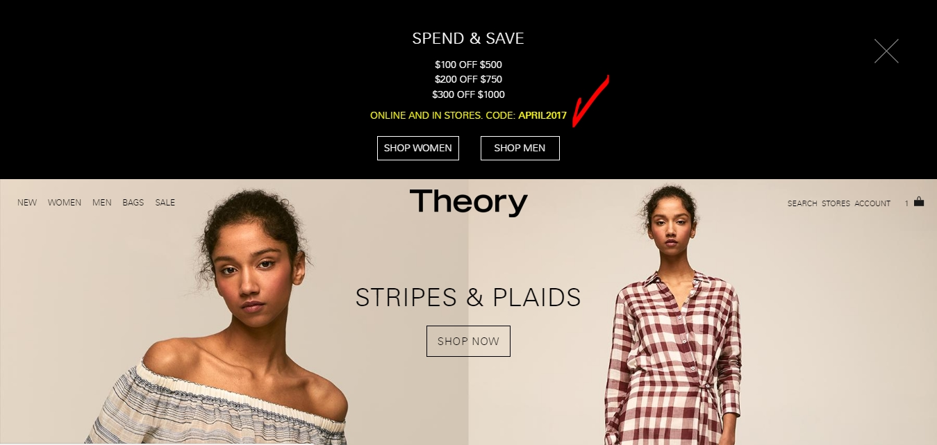 Theory coupon code