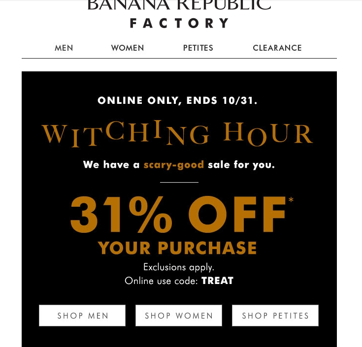 Banana Republic Outlet Coupon Printable / Coffee And Cake Deals
