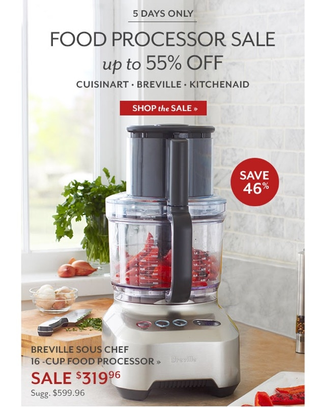 [Sears] Most Breville appliances 20% off + coupons