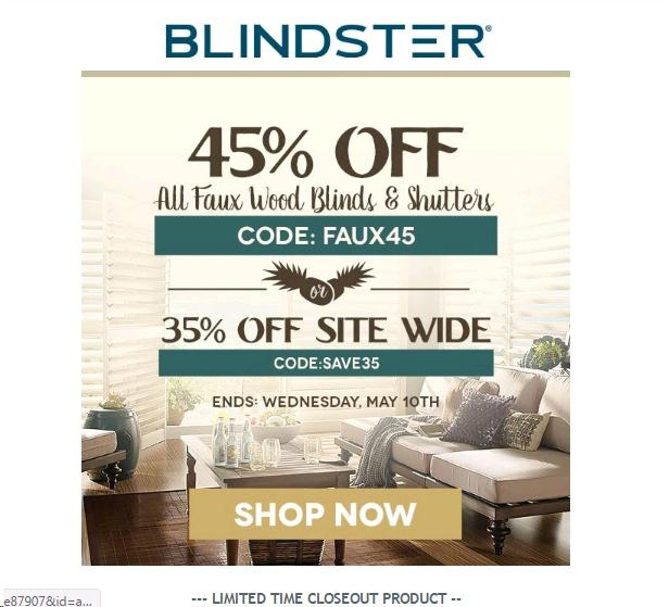 Blindster coupon code