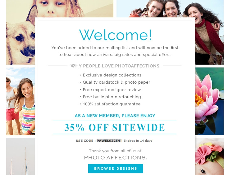 Photo Affections Promo Code & Deal