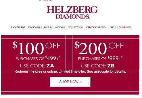 Military Discount. Helzberg Diamonds is grateful to our military and their families for their sacrifices, dedication and service to our country. To show our appreciation, we are proud to offer a 10% discount to all Active Duty, Military Retirees, Disabled Veterans, and Registered dependents of Active Duty/Retirees when you place your order in.