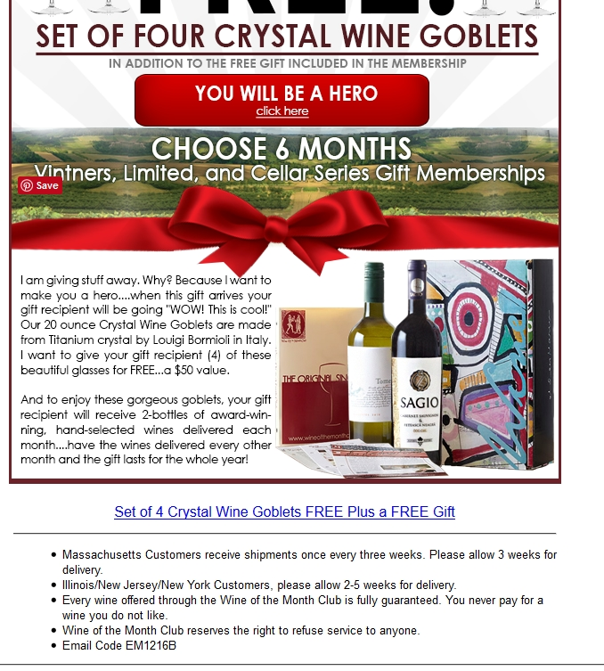 Check out our 2 Wine of the Month Club discount codes including 1 sale, and 1 free shipping promo code. Most popular now: Sign Up for Wine of the Month Club Emails and Receive Exclusive News and Offers. Latest offer: Free Shipping on Select Items.