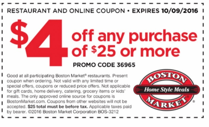 image regarding Printable Boston Market Coupons known as Boston industry coupon code 30032 / Cilory discount codes 2018