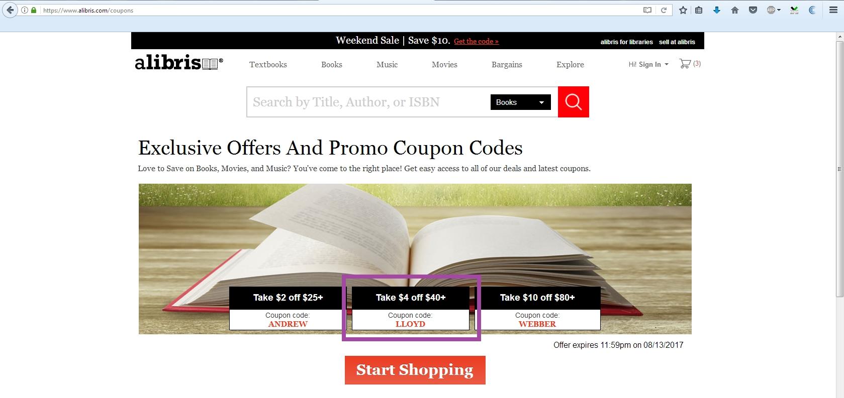 Alibris coupon code